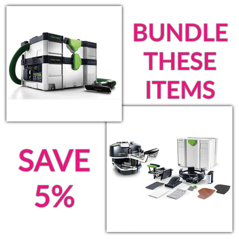 Bundle & Save! - CT SYS - Compact Systainer Dust Extractor + Festool Conturo KA 65 Edge Bander | Conturo Set