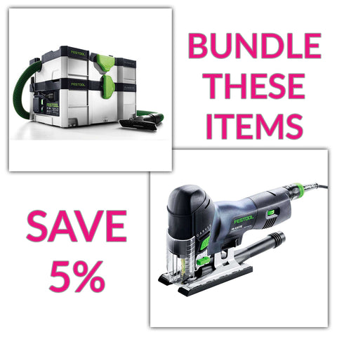 Bundle & Save! - CT SYS - Compact Systainer Dust Extractor + Festool Carvex Jigsaws - PS 420 EBQ & PSB 420 EBQ | Barrel Handle
