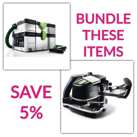 Bundle & Save! - CT SYS - Compact Systainer Dust Extractor + Festool Conturo KA 65 Edge Bander | Non Set