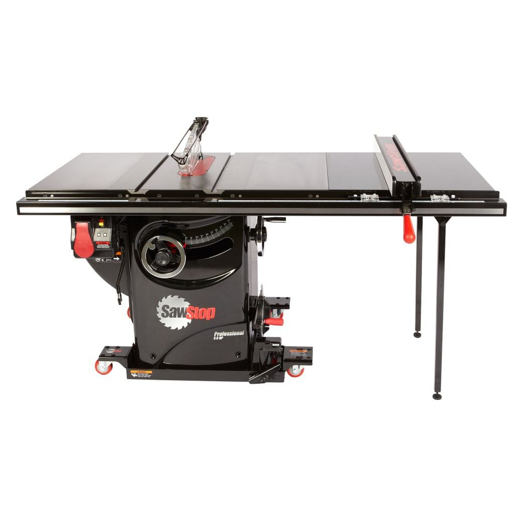 "SawStop Professional Cabinet Saw with 36"" T-Glide Fence and Industrial Mobile Base"