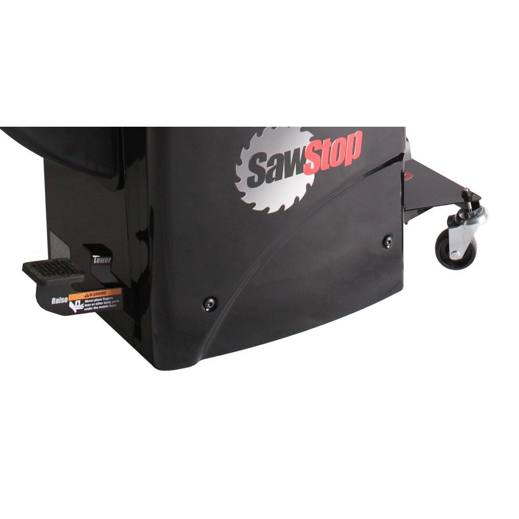 SawStop Professional Cabinet Saw Integrated Mobile Base