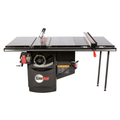 "SawStop Industrial Cabinet Saw with 36"" rip fence"