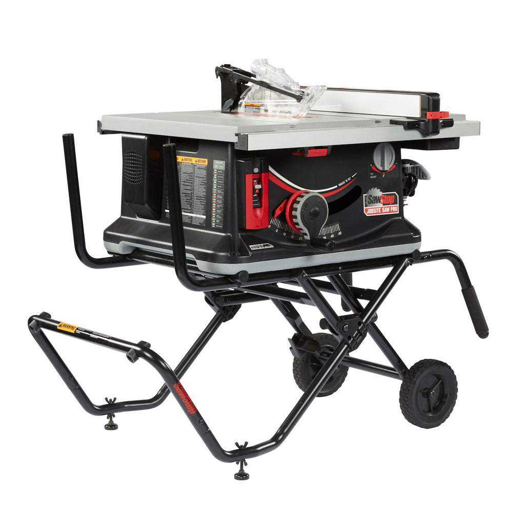 SawStop Jobsite Pro Saw with Mobile Cart