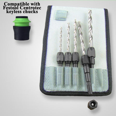 Snappy 5-Piece Centrotec Drill Adapter Set
