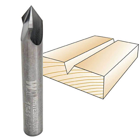 "Whiteside V-Groove 60 Degree Angle - Included  Router Bits - 1/4"" & 1/2"" Shank"