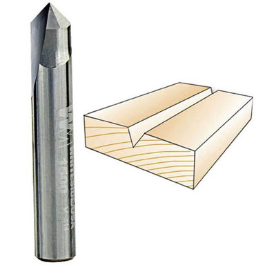 "Whiteside V-Groove 90 Degree Included Angle Router Bits - 1/4"" & 1/2"" Shank"