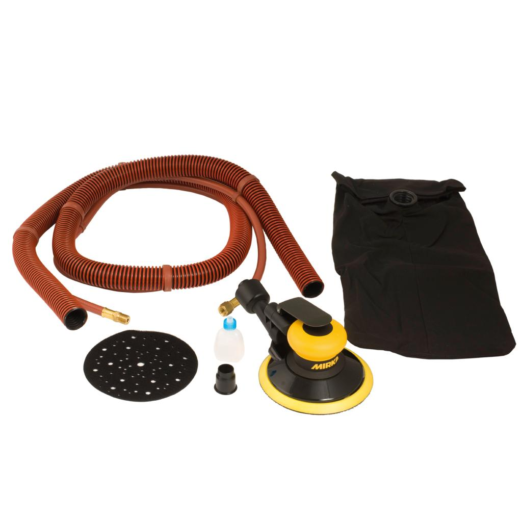 "Ultimate Tools 6"" Pneumatic Random Orbit Sander with Dust Bag"