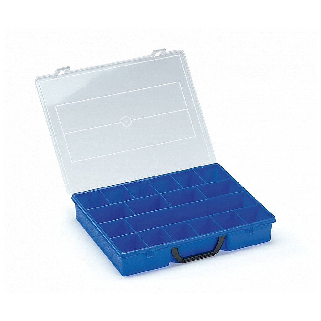 Ultimate Tools Blue Tanos Organizer Box with Fixed Dividers