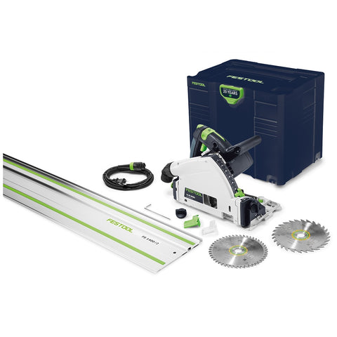 Festool Emerald Edition TS 55 REQ-F-Plus Plunge Cut Saw with Guide Rail