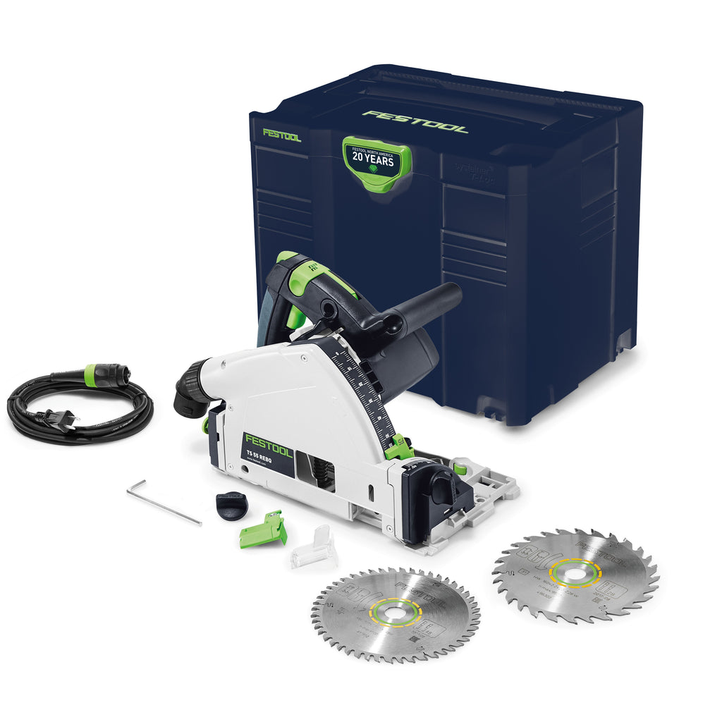 Festool Emerald Edition TS 55 REQ-F-Plus Plunge Cut Saw w/o Guide Rail