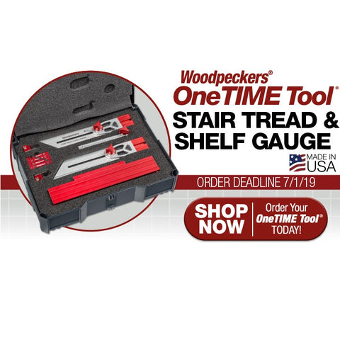 Stair Tread & Shelf Gauge - OneTime Tool
