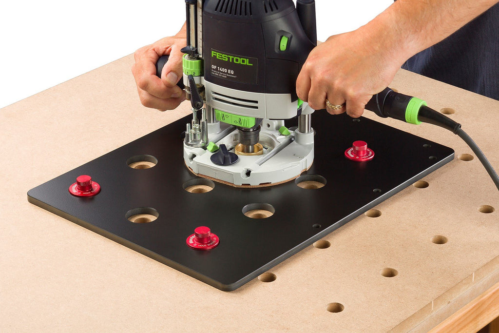 Ultimate Tools Dog Hole Boring Jig for Work Surfaces - One Time Tool
