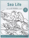 Sea Life Line Art Pattern Pack