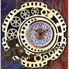 Steampunk Clock fretwork scroll saw pattern | The Wooden Teddy Bear