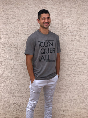 Conquer All Tee Grey