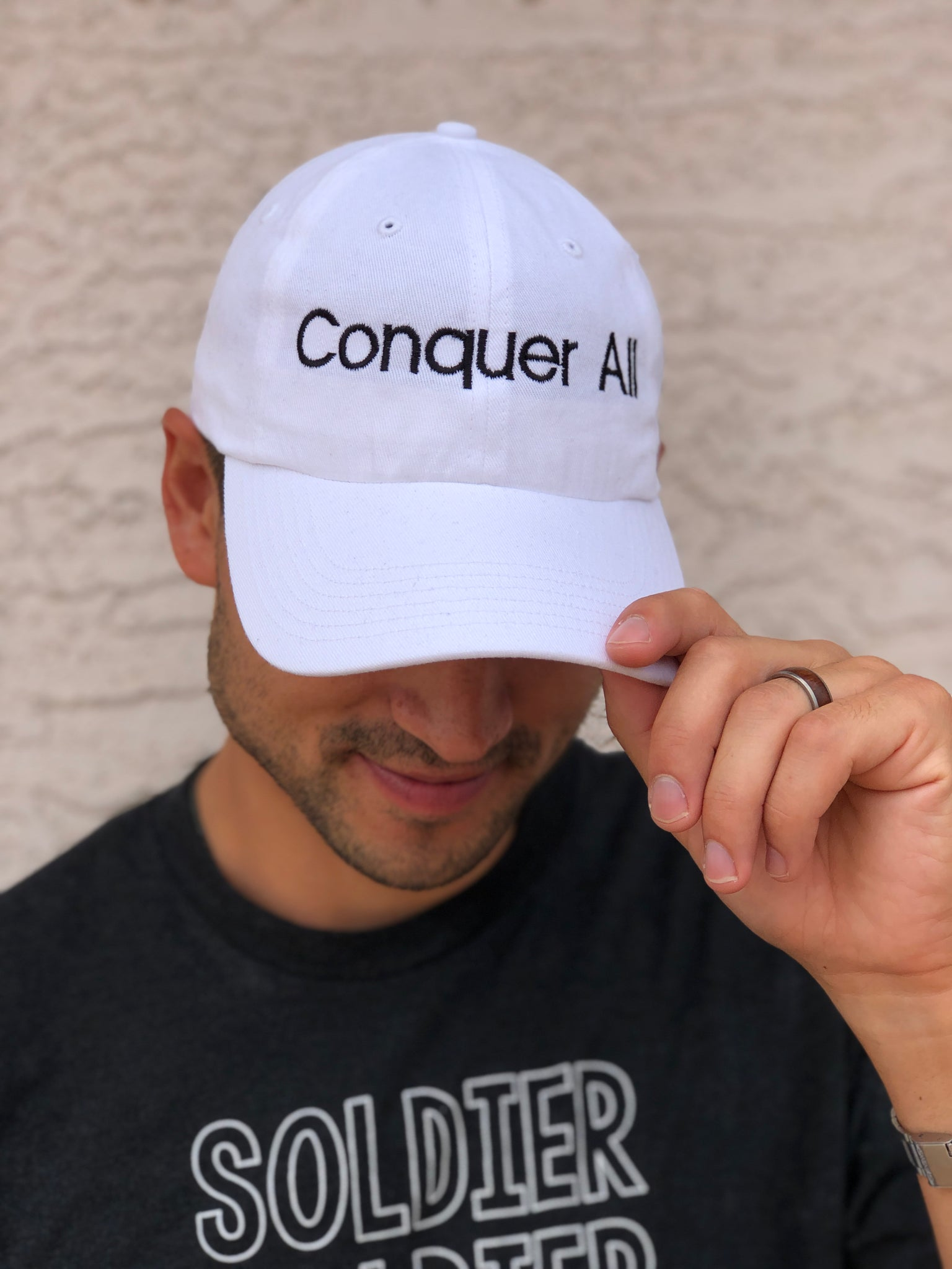 Conquer All 'Dad Hat' - White