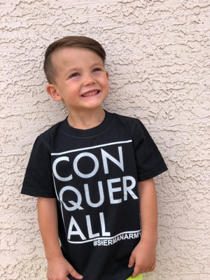 Conquer All Toddler Tee - Black