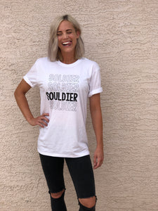 A Souldier Tee White