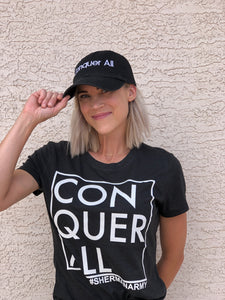 Conquer All 'Dad Hat' - Black
