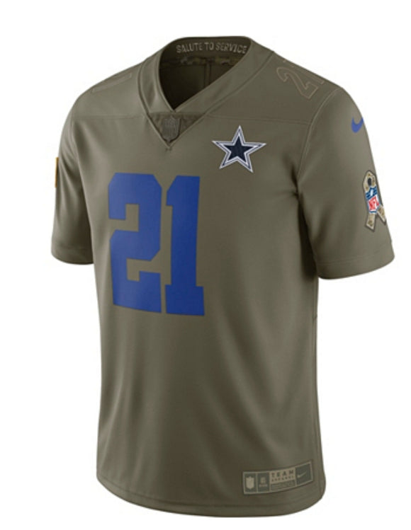 4c85dba3d Dallas Cowboys Ezekiel Elliott #21 Nike Limited Salute To Service Jersey