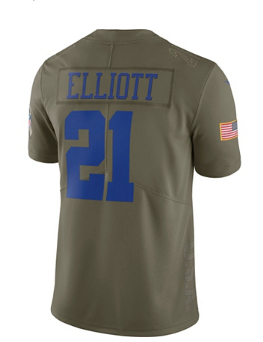 82da578ee ... Dallas Cowboys Ezekiel Elliott #21 Nike Limited Salute To Service Jersey