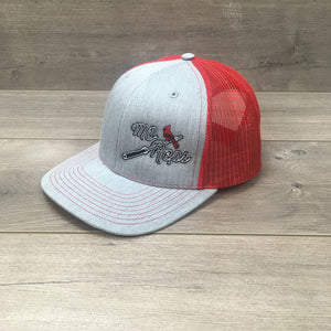 75520f9218aea Cardinal Barbell - Hat (Heather Gray   Red) – MO REPS
