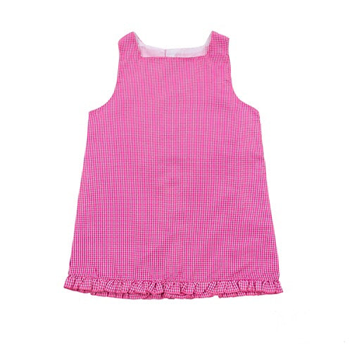 Girl's Pink Gingham Dress