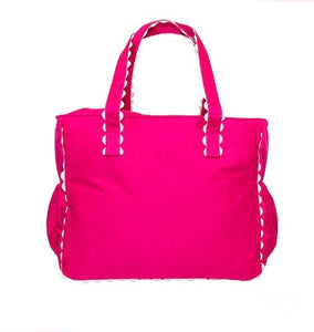 Hot Pink Ric Rac Diaper Bag