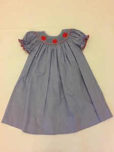 Annabelle Apple A Day Smocked Dress