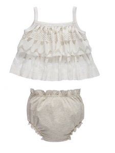 Claire Cream & Tan Set