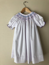 Pandora Purple and White Smocked Dress