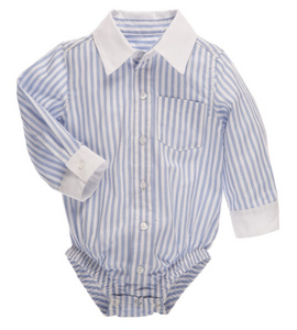 Billy Blue & White Diaper Shirt