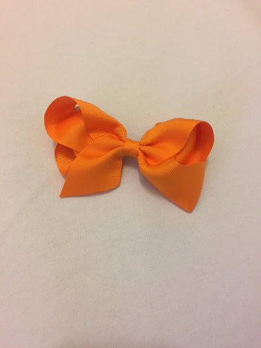 Olivia Orange Hair Bow