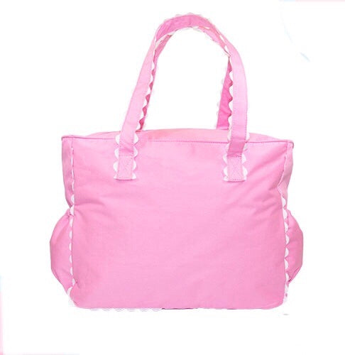 Light Pink Ric Rac Diaper Bag