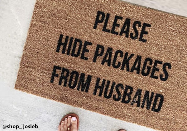 The Decor Addicts guide to Hiding Online Deliveries from your Hubby