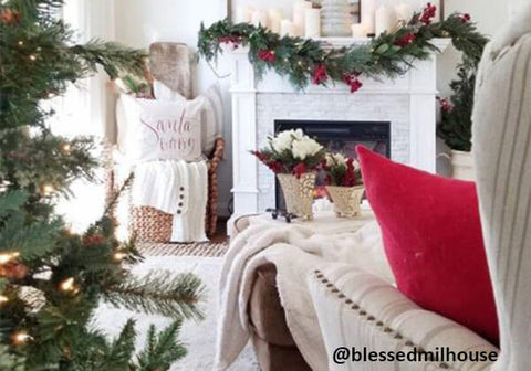Traditional farmhouse Christmas decor
