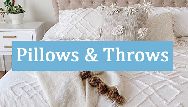 Farmhouse Inspired Pillow and Throw Blankets