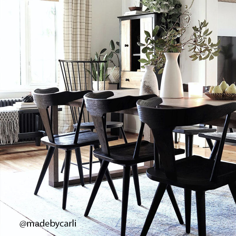 Made by Carli Windsor chairs and wing back