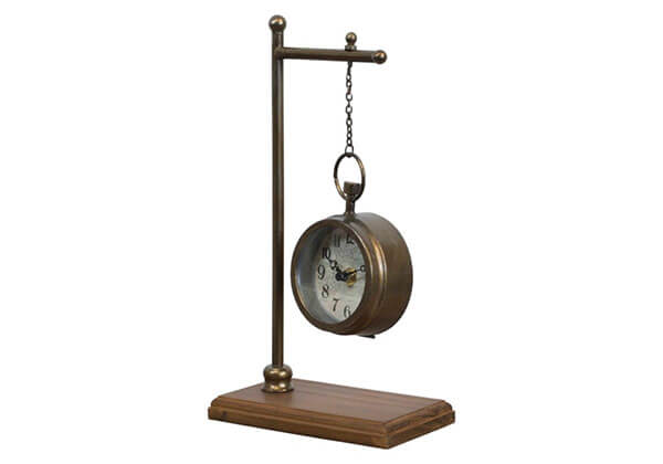 Pocket Watch Hanging Table Clock with Antique Finish