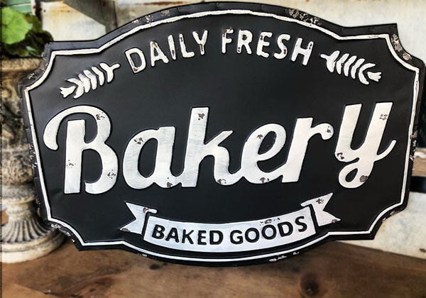 """Made Fresh Daily"" Bakery Sign"