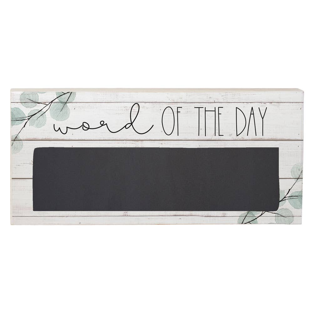 """Word Of The Day"" Chalkboard Sign"