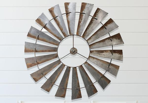 58 inch Full Metal Windmill with rusty features