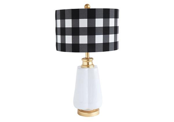 Pisan Lamp with Buffalo Checked Shade