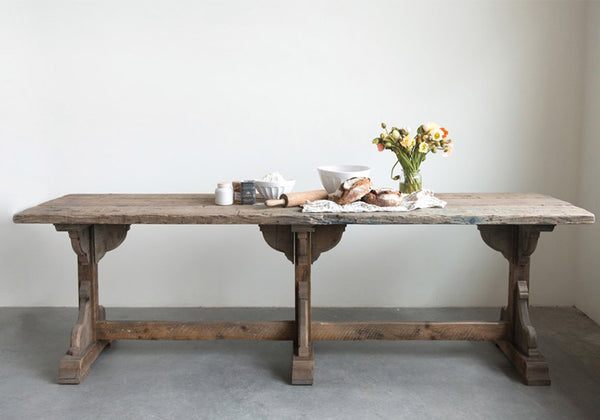 Charleston Rustic Wood Dining Table