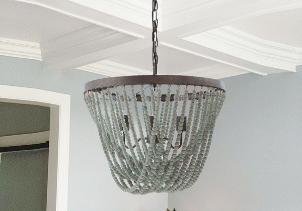 Coastal Farmhouse Bead Chandelier