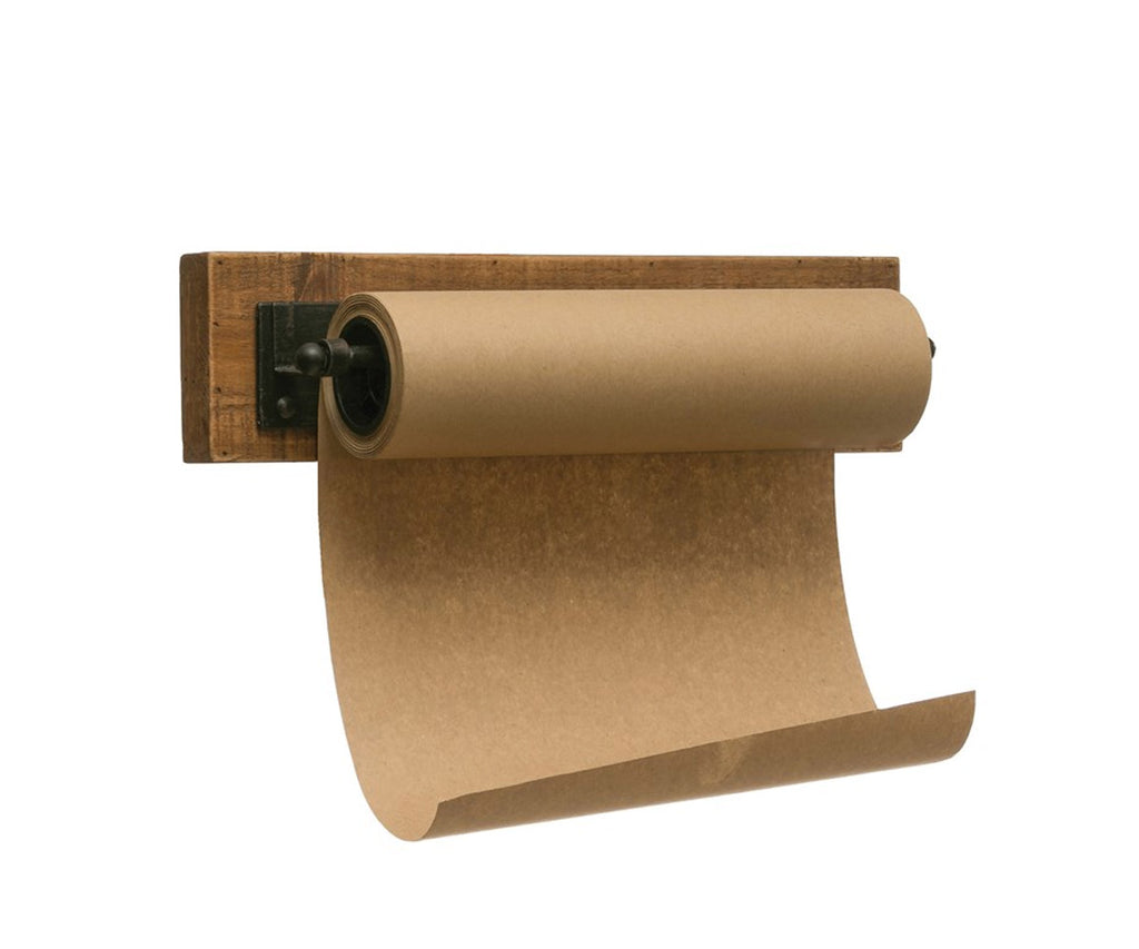 Farmhouse Paper Roll with wood and metal holder