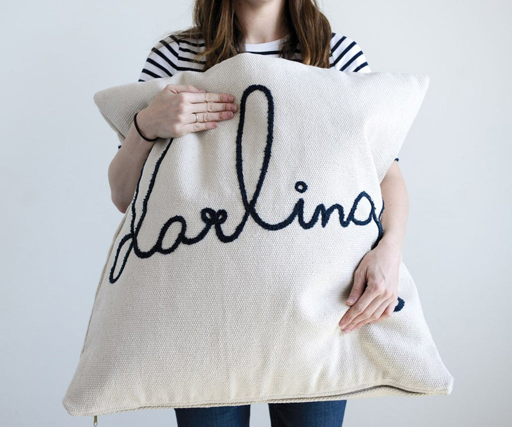 "26"" Embroidered Darling Pillow"