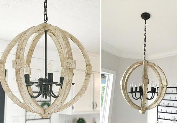 Distressed Orb Chandelier