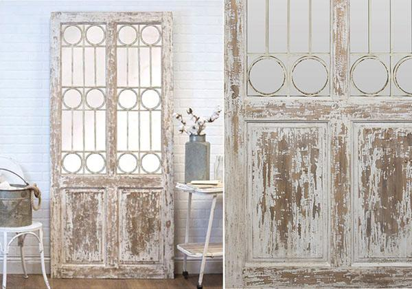 Large French door wall decor