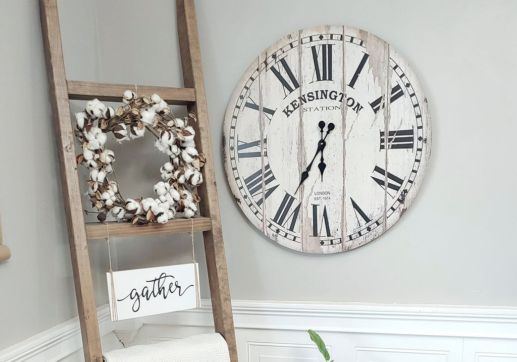 Vintage Distressed Kensington Wall Clock